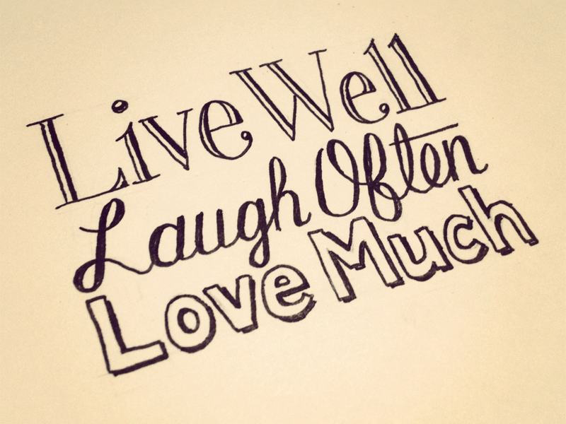 Live Love Laugh Quote: Love/Hate : Hand Lettering Quotes By Sean McCabe