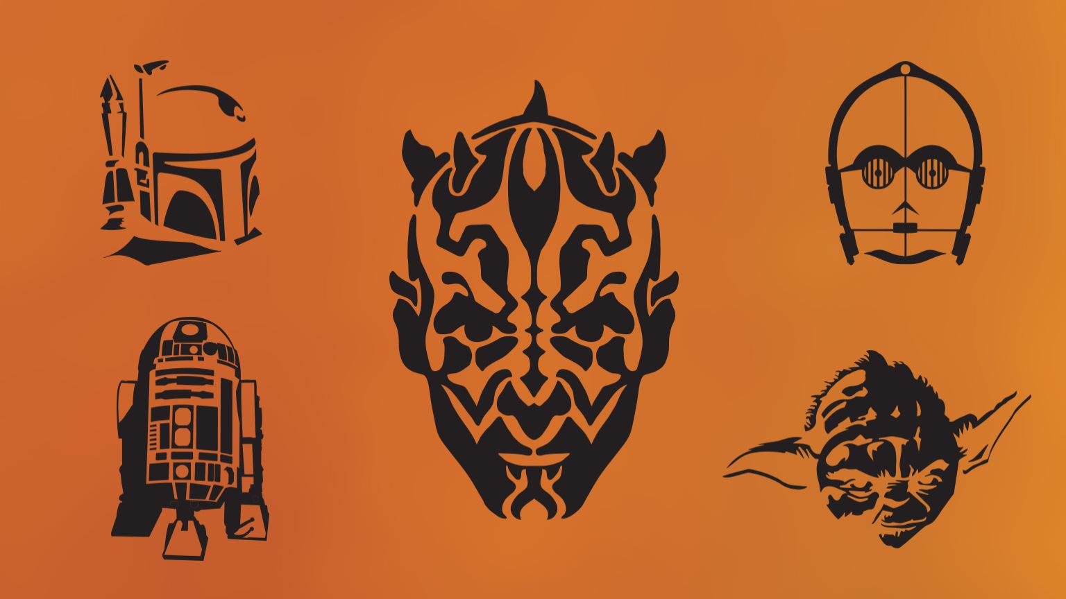 Free pumpkin stencil carving pattern designs of halloween