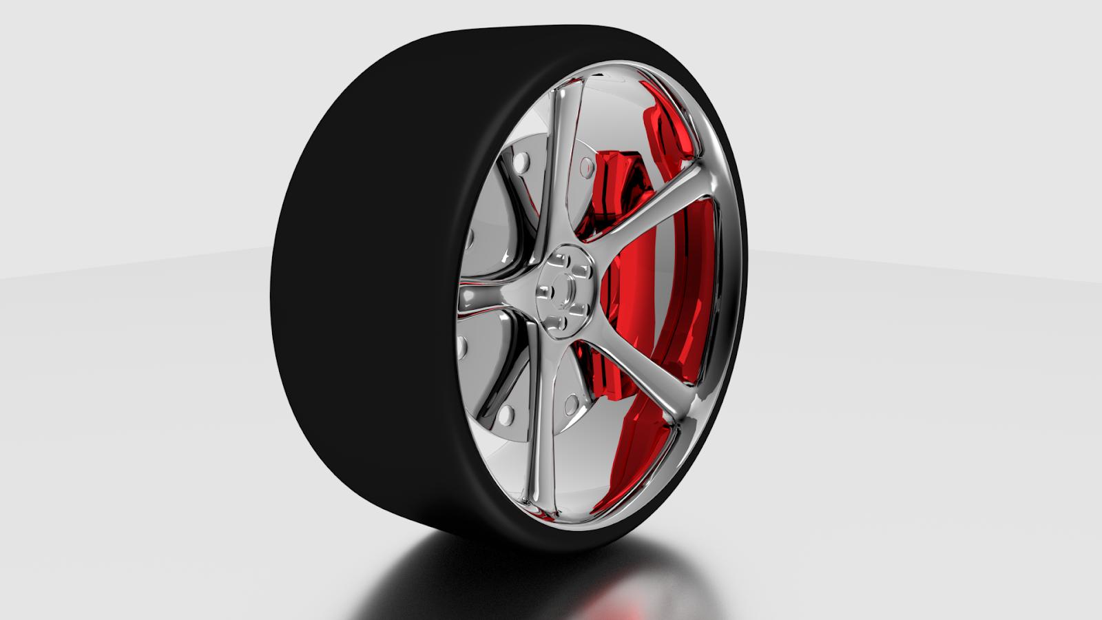 Free 3D Slick Tire .blend