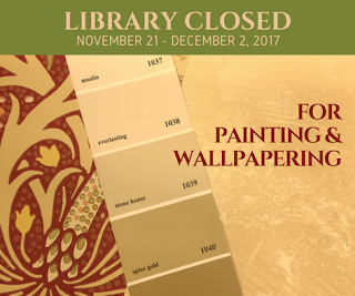 Library to be Closed November 21 - December 2, 2017