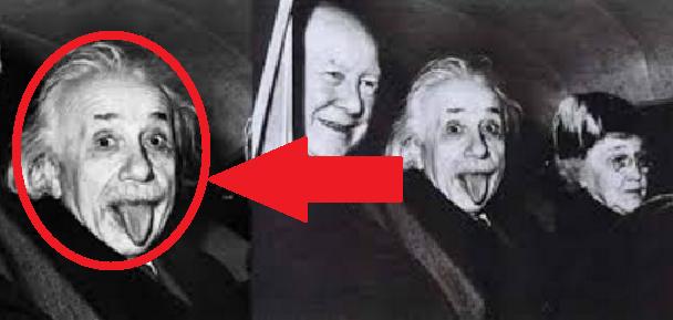 Foto-Albert-Einstein-Menjulurkan