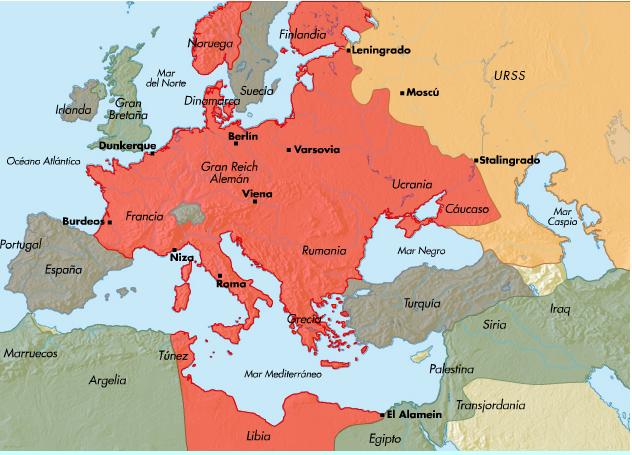 Resultado de imagen para III REICH mapa