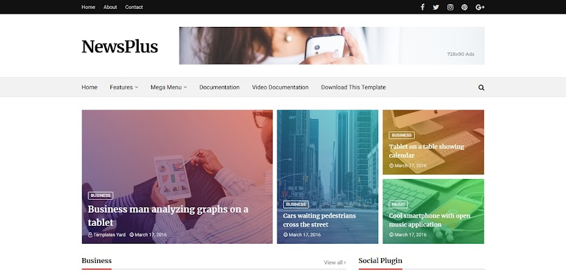 Newsplus Free Blogger Template