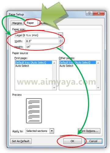 Cara Print Ukuran Kertas F4 Legal Di Ms Word Cara Aimyaya Cara Semua Cara