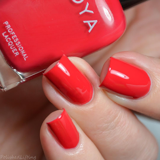 hot red nail polish
