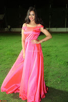 Actress Pujita Ponnada in beautiful red dress at Darshakudu music launch ~ Celebrities Galleries 038.JPG