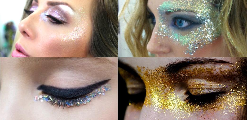 Maquiagem com glitter para o carnaval