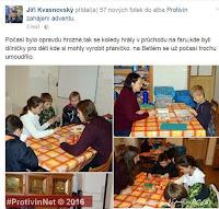 Jiří Kvasnovský - rozsvícení stromu Protivín 2016