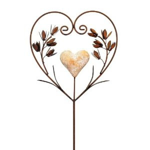 gartendeko gartenstab flowerheart metall rost 100 cm herz stecker. Black Bedroom Furniture Sets. Home Design Ideas