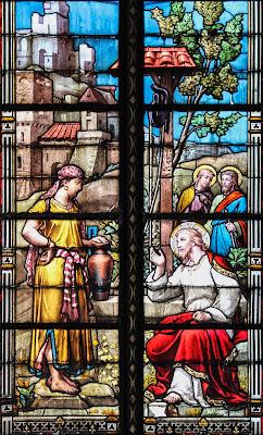 Imagem de Jesus e a mulher samaritana, vitral, #2