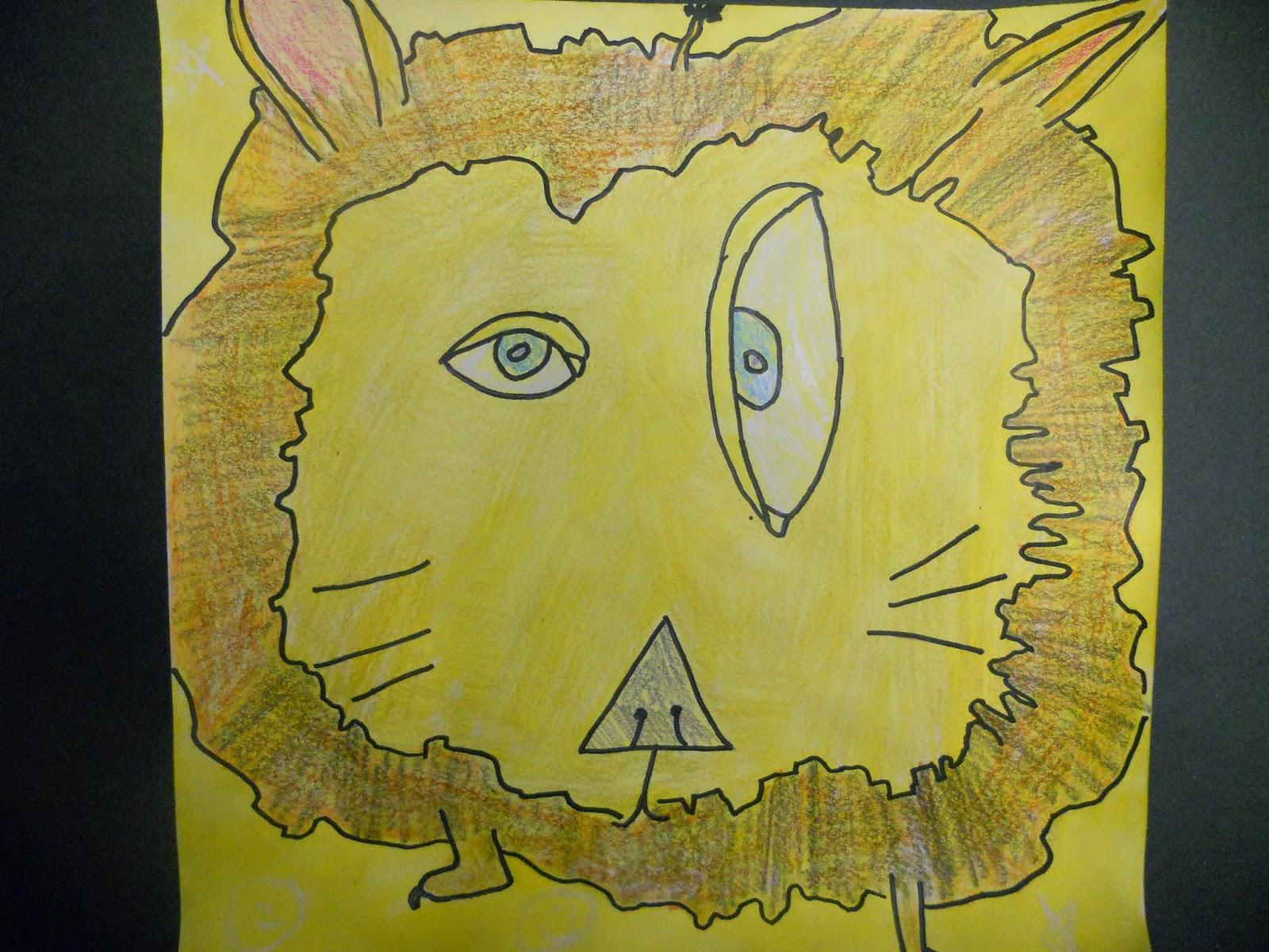 Little Dog Art Blog: 4th Grade Picasso Animals