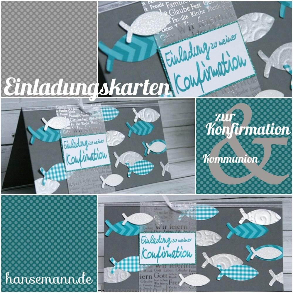 ... Kommunion Fisch Selber Basteln. Made By Imme Einladungskarten Zur  Konfirmation
