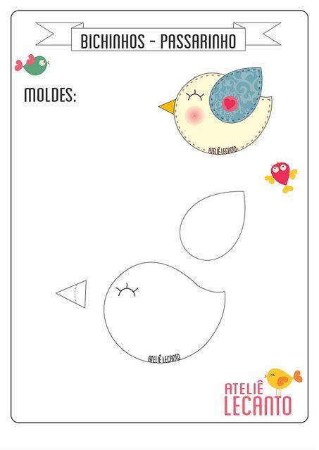 Pattern For Felt Bird Como Faço