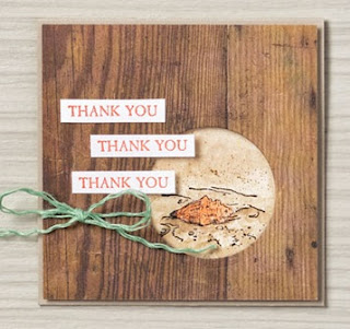 Thank You card would be great for casual crafters
