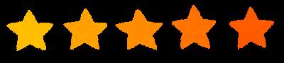 5段階評価の星印マーク(5)