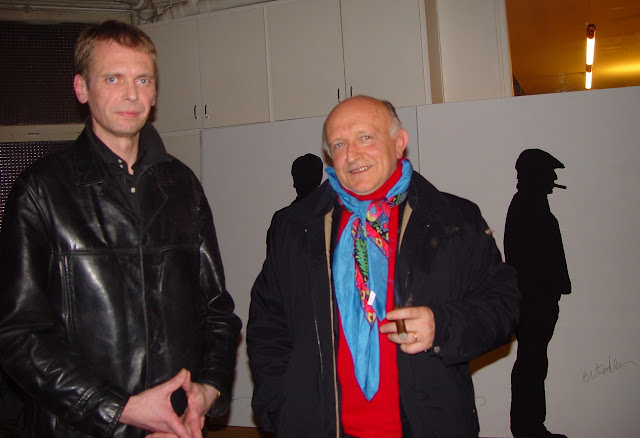 Klaus Guingand & Bertrand Lavier - 2005 - Paris - France.  Guingand studio    © Muriel Bonel