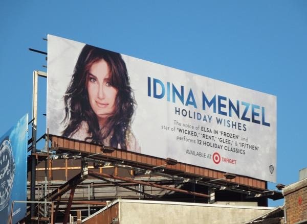 Idina Menzel Holiday Wishes 2014 album billboard