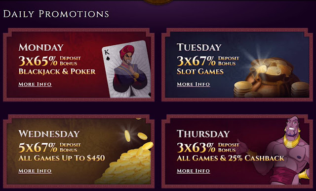 Aladdins Gold casino daily promotions