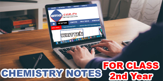 F Sc 2nd Year Chemistry Notes Federal Board in PDF