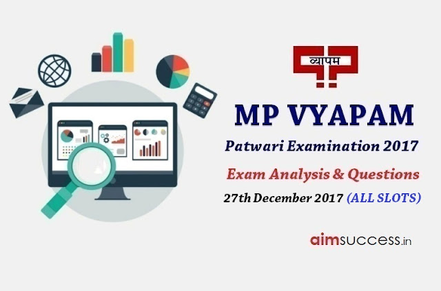MP Patwari Exam Analysis 2017 - 27th December 2017