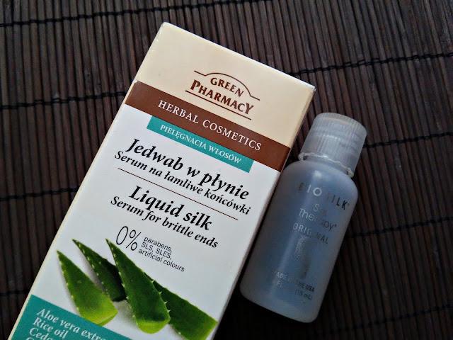 plan pielęgnacji włosów na listopad 2016, serum na końcówki, Green Pharmacy, Biosilk