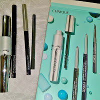 "Clinique ""Lash Café"" set mascara eyeliner plum black sleek teak inner eye liner review kit gift quickline mascara"