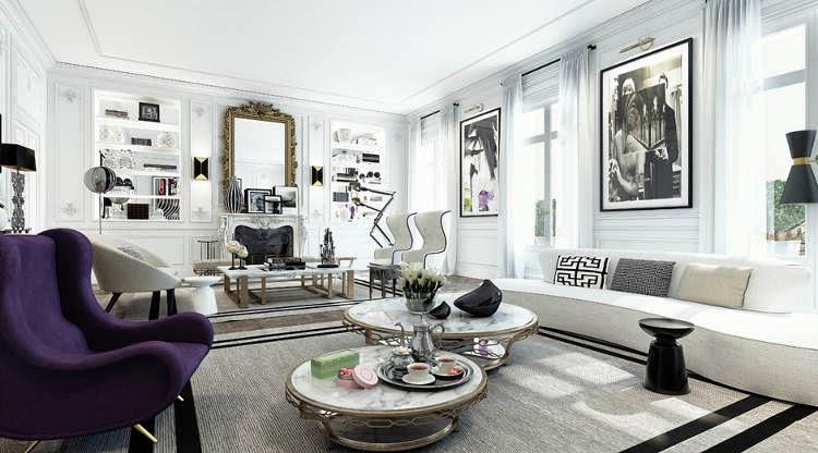 Noir blanc un style for Appartement paris design