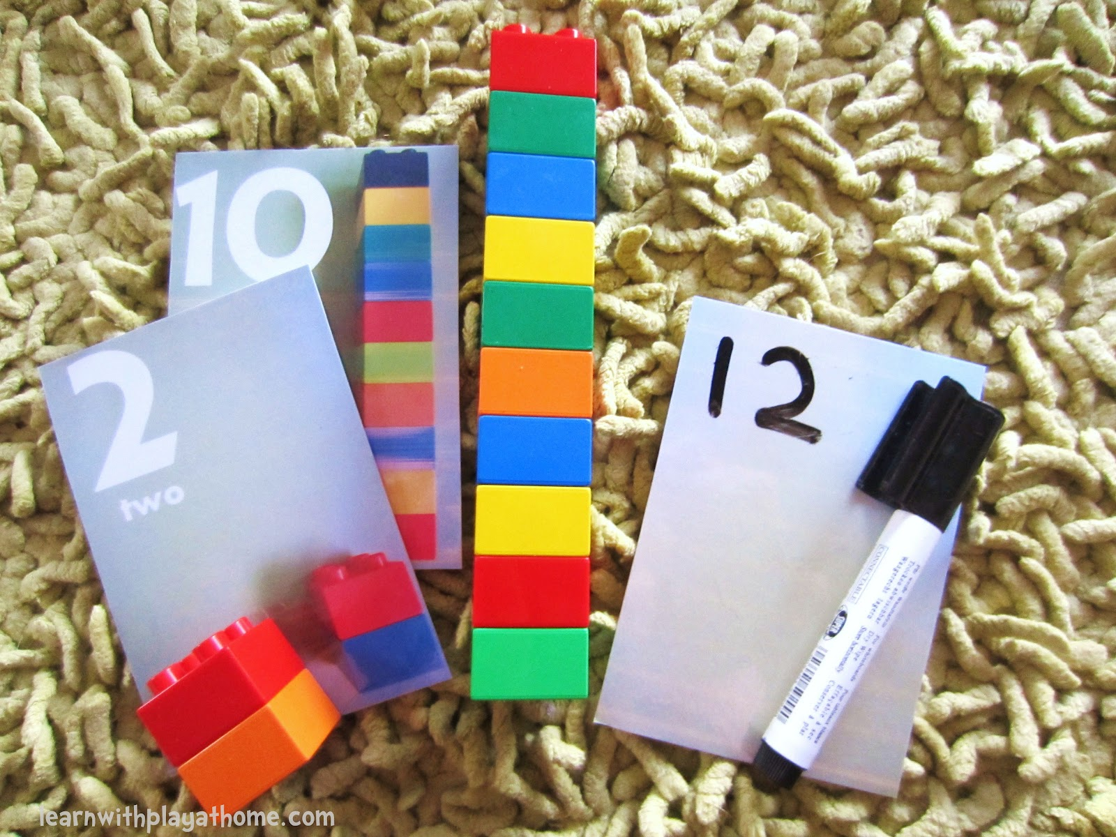 Learn With Play At Home Printable Duplo Number Cards