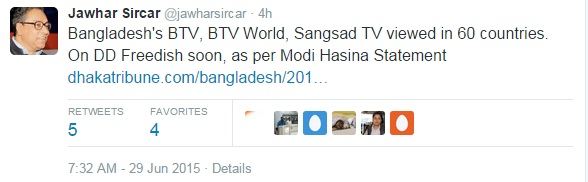 BTV World added and Sangsad TV coming soon on DD Freedish