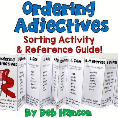 Ordering Adjectives Sorting Activity and Reference Guide