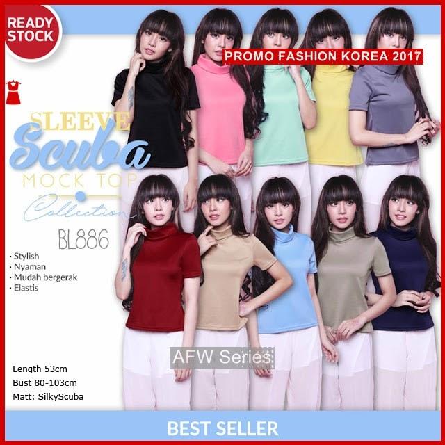 BAMFGW112 Sleeve Mock Top Wanita PROMO BMG
