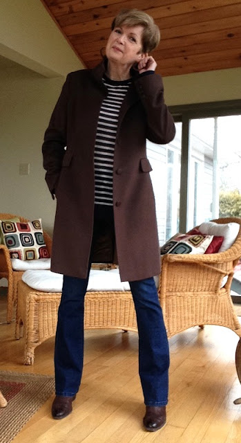 new jeans with brown Max Mara coat