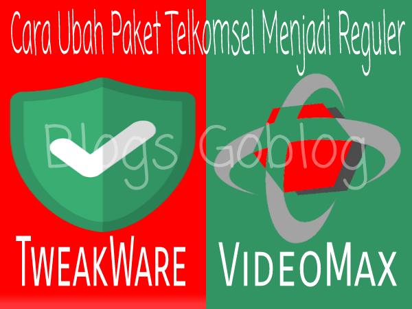 Cara Cara Setting Tweakware Untuk mengubah Kuota Telkomsel VideoMax Terbaru 2019