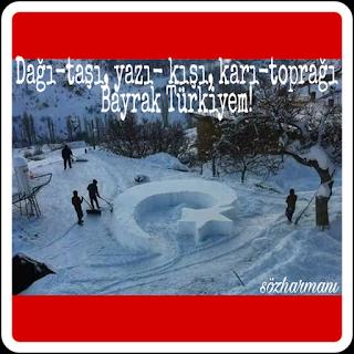 ay yıldız, dağ, devlet, kar, kış, millet, resimli mesajlar, resimli sözler, taş, toprak, türkiyem, vatani bayrak, yaz,