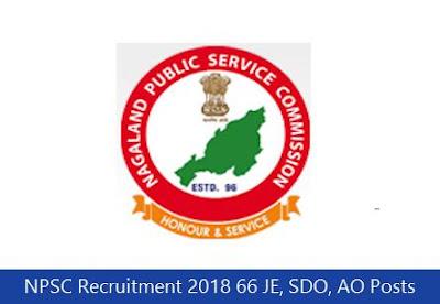 NPSC Recruitment 2018 66 JE, SDO, AO Posts