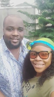 Omawumi and her husband, Tosin Yusuf