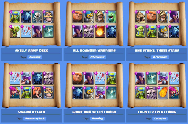 Clash Royale deck Arena 2