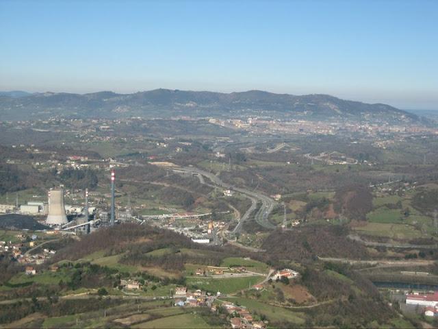 Rutas Montaña Asturias: Vista de Soto Ribera y Oviedo