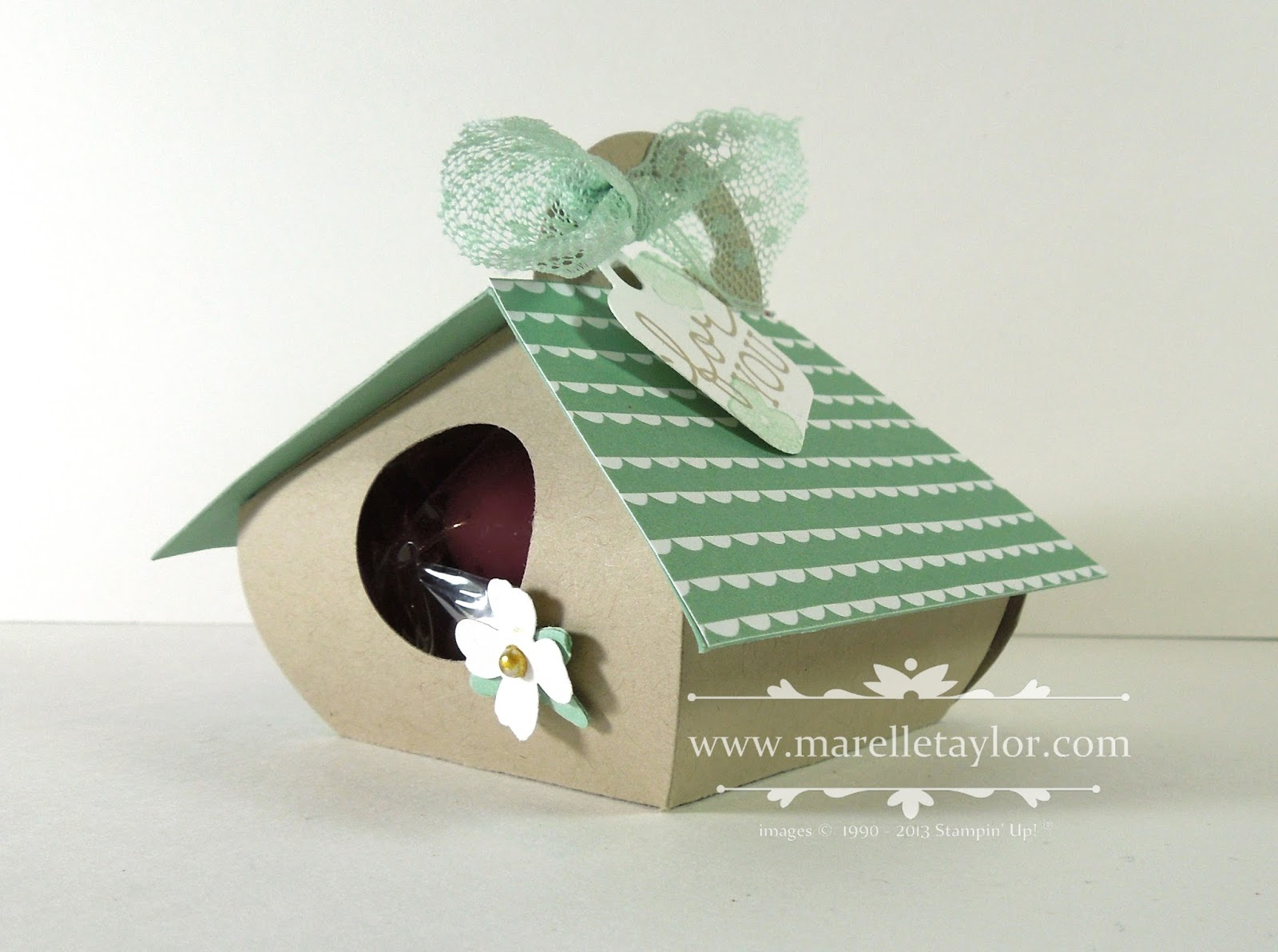 Marelle taylor stampin up demonstrator sydney australia little i wanted to make a little birdhouse as one of my easter projects this year and i thought the curvy keepsake box would make a cute little birdhouse negle Choice Image