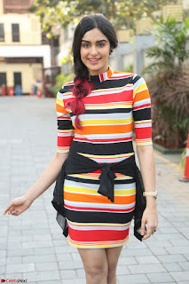 Adha Sharma in a Cute Colorful Jumpsuit Styled By Manasi Aggarwal Promoting movie Commando 2 (66).JPG