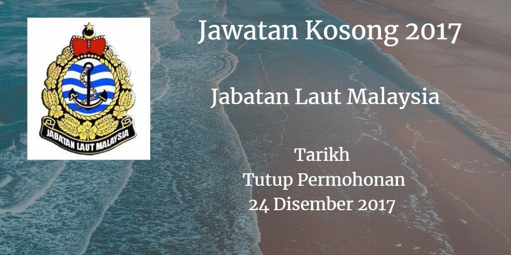 Jawatan Kosong Jabatan Laut Malaysia 24 Disember 2017