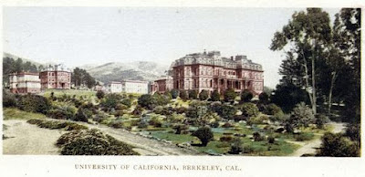 Detail of University of California, Berkeley postcard from NYPL