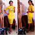 Chika Ike Dazzles In Sheer Yellow Lace Dress