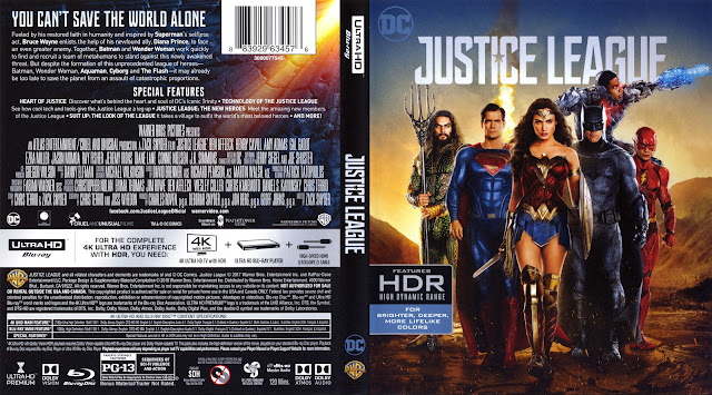 Justice League 4k Bluray Cover