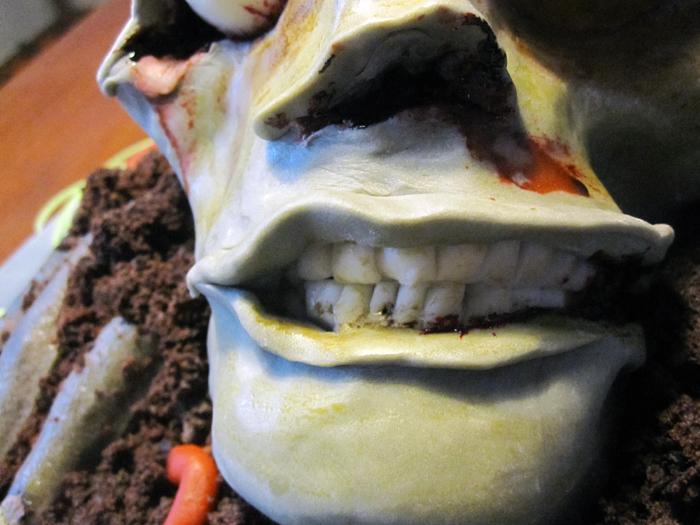 gateau en pate a sucre zombie