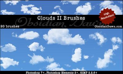 20 pinceles photoshop nubes