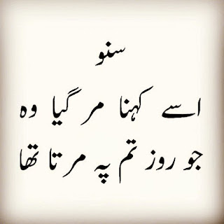 Suno ussay kehna mar gaya wo - Urdu Poetry Lovers