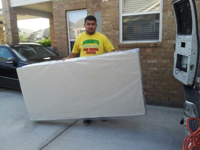 Mattress Pick Up In A Dumpster From A Home In Haltom City