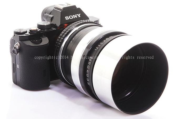 Объектив Astro-Berlin Tachonar 75mm f/1.0 с камерой Sony