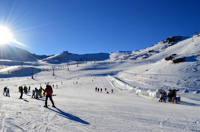 Temporada de neve na Sierra Nevada